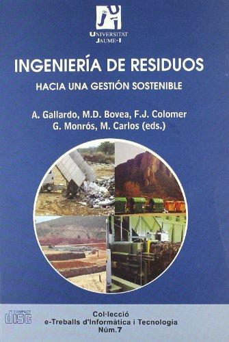 9788480216654: Ingeniería de residuos : hacia una gestión sostenible