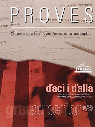 9788480252881: PROVES D'ACÍ i D'ALLÀ SUPERIOR (C2)