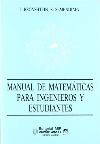 9788480410229: Manual De Matematicas Para Ingenieros Y Estudiantes