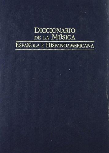 9788480483100: Diccionario de la musica española e hispanoamericana 7