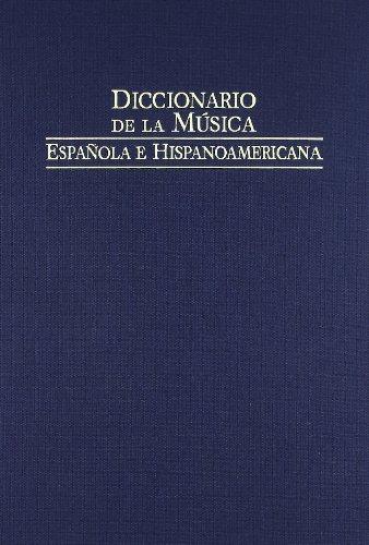 9788480483131: Diccionario de la musica española e hispanoamericana (10 Soria-zyman)