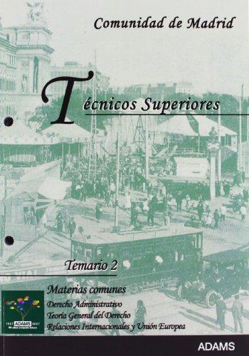 9788480615532: Tecnicos Superiores - Comunidad De Madrid - Temario 2