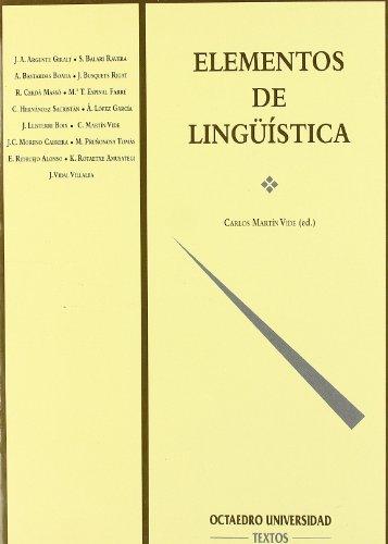 Elementos de lingüística (Filología): Martín Vide, Carlos;
