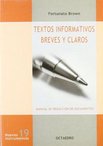 9788480636223: Textos informativos breves y claros : manual de redacción de documentos