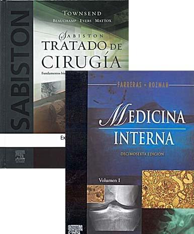 9788480860277: Farreras Medicina Interna (2 vol) + Sabiston Tratado de Cirugía (Lote Ahorro)