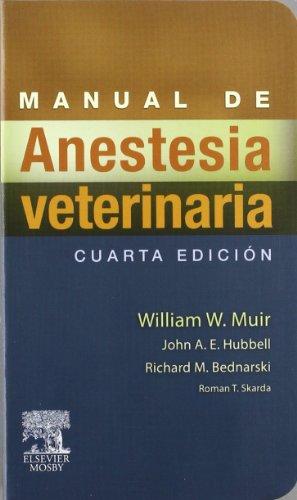 9788480862943: Manual de anestesia veterinaria, 4e (Spanish Edition)