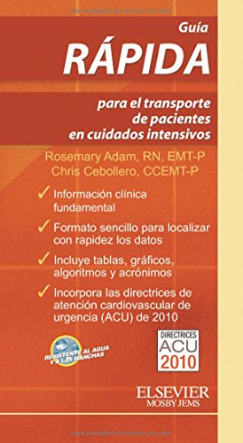9788480869102: Guía rápida para el transporte de pacientes en cuidados intensivos