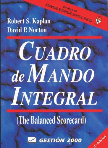 9788480885041: Cuadro de mando integral (Harvard Business School Press)