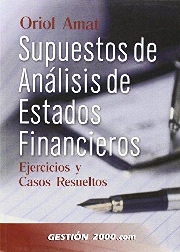 9788480886833: Supuestos de análisis de estados financieros: Ejercicios y casos resueltos (FINANZAS Y CONTABILIDAD)