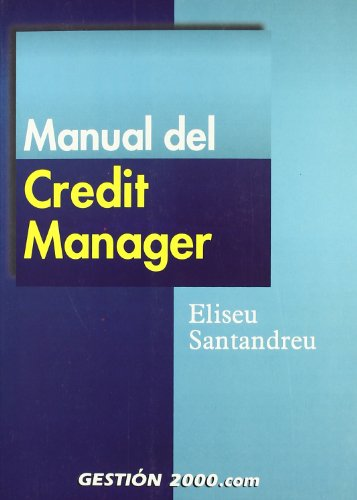 9788480887359: Manual del Credit Manager