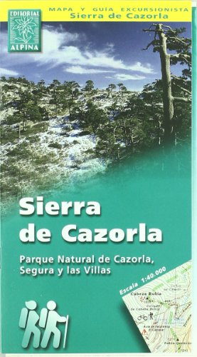 9788480900652: Sierra de Cazorla, mapa excursionista. Escala 1:400.000. Español, English. Alpina Editorial.