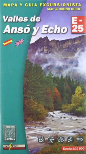 9788480901789: Valles de Anso y Echo, mapa excursionista. Escala 1:25.000. Alpina Editorial.