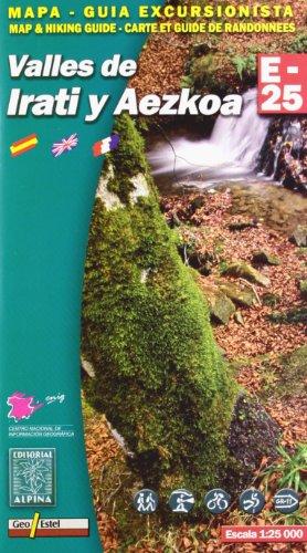 9788480902359: Valles de Irati y Aezkoa, mapa excursionista. Escala 1:25.000. Español, Français, English. Alpina Editorial. (Mapa Y Guia Excursionista)