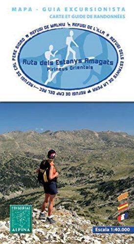 La ruta dels estanys amagats. Escala 1:40.000. Mapa excursionista. Alpina editorial.: VV.AA.