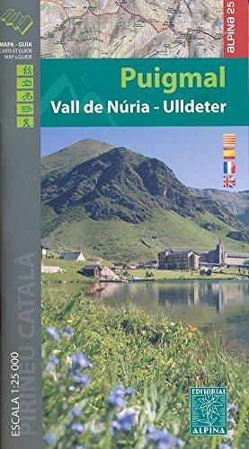 9788480905534: Puigmal-Vall de Nuria-Ulldeter, mapa excursionista. Escala 1:25.000. Editorial Alpina. (Mapa Y Guia Excursionista)