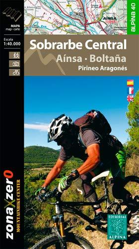9788480905787: Sobrarbe Central. Ainsa - Boltaña. BTT. Zona Zero, mapa Excursionista. Escala 1:40.000. Editorial . Alpina. (Mapa Y Guia Excursionista)