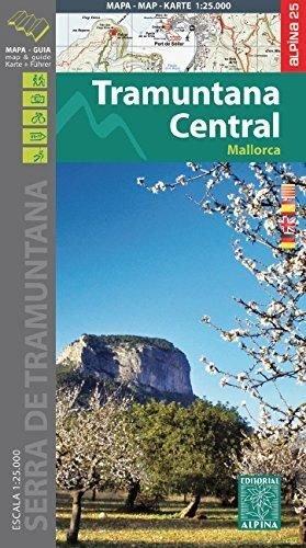 9788480905961: Tramuntana Central mapa excursionista. Mallorca. Escala 1:25.000. Español, Català, English, Deustch. Alpina Editorial. (Mapa Y Guia Excursionista)