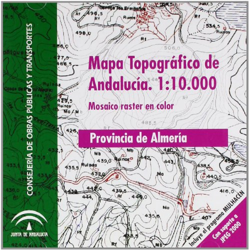9788480954891: Mapa Topográfico de Andalucía Escala I: 10.000 Color. DVD Mosaico Raster: JPEG 2000. Provincia de Almería