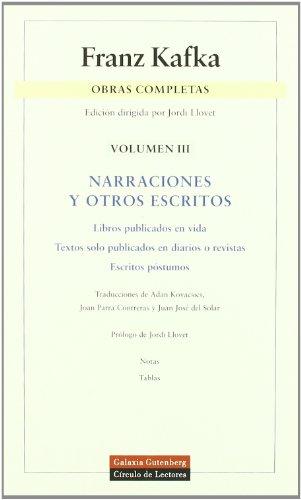 9788481092608: Narraciones y otros escritos: Obras completas. Vol.III: 3