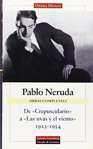 9788481092707: Obras Completas I De Crepusculario a Las (Obras Completas / Complete Works) (Spanish Edition)