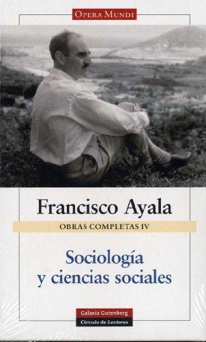 9788481096637: Sociología y ciencias sociales: Obras completas. Vol IV