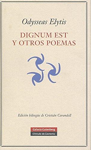 9788481097177: Dignum est y otros poemas (POESÍA)