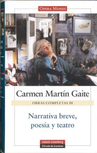 9788481097351: Narrativa breve, poesía y teatro: Obras completas. Vol.III