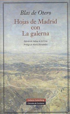 Hojas de Madrid Con la Galerna (POESÍA): Otero, Blas de