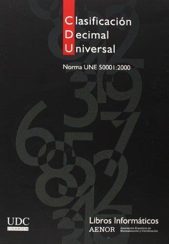 CDU. Clasificación decimal universal. (Ed. en CD-Rom): Aenor