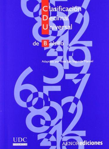 9788481434118: Clasificación Decimal Universal (CDU) de bolsillo
