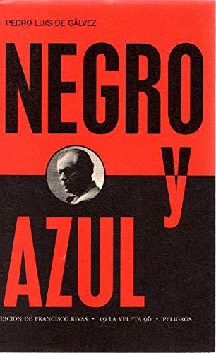 9788481512892: Negro y azul (La veleta) (Spanish Edition)