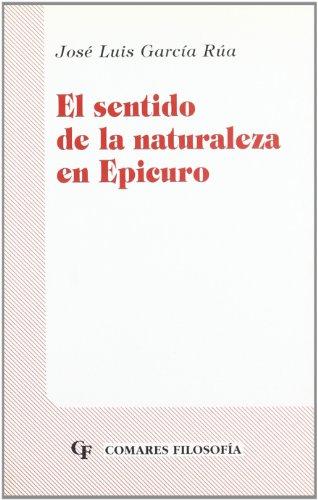 9788481512960: SENTIDO DE LA NATURALEZA EN EPICURO