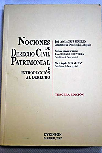 9788481559705: NOCIONES DE DERECHO CIVIL PATRIMONIAL E INTRODUCCIÓN AL DERECHO