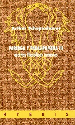 9788481600650: Parerga Y Paralipomena III
