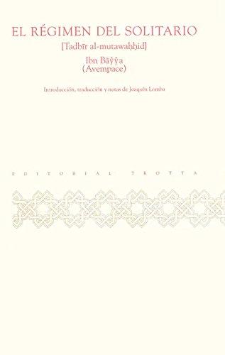 9788481641714: El Régimen del solitario (Al-Andalus. Textos y Estudios)