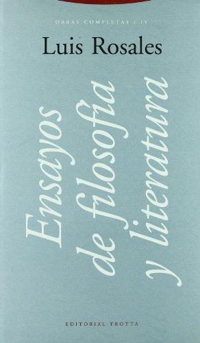 9788481642063: Ensayos de Filosofia y Literatura (Spanish Edition)