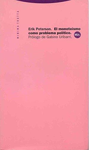 9788481642643: El monoteísmo como problema político (Minima Trotta)