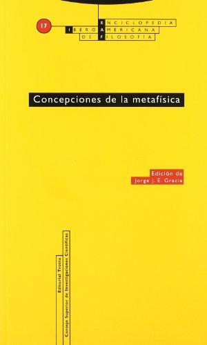 9788481642766: Concepciones de la metafísica: Vol. 17 (Enciclopedia Iberoamericana de Filosofía)