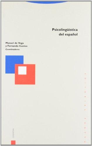 9788481643039: Psicolingüística del español (Estructuras y Procesos. Cognitiva)