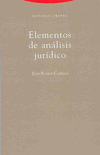 9788481643244: Elementos de Analisis Juridicos (Spanish Edition)