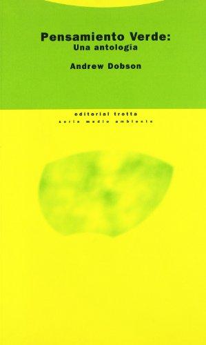 9788481643282: Pensamiento Verde: Una antología (Estructuras y Procesos. Ciencias Sociales)