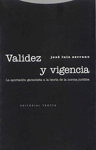 VALIDEZ Y VIGENCIA: SERRANO MORENO, JOSÉ