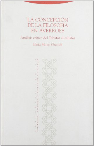 9788481644265: La Concepcion de La Filosofia En Averroes (Spanish Edition)