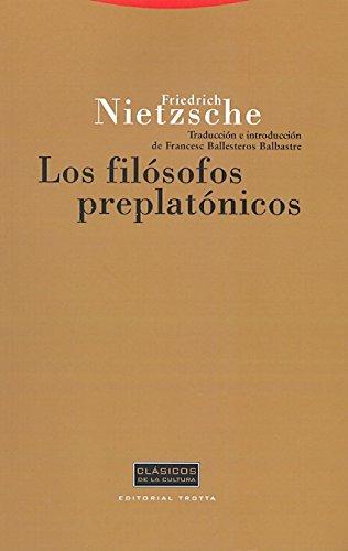 9788481645910: Filosofos preplatonicos/ Pre-Platonic Philosophers (Spanish Edition)