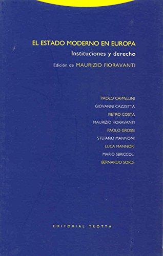 9788481646603: El Estado Moderno En Europa (Spanish Edition)
