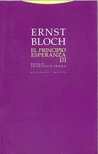 9788481647143: El principio esperanza II (Estructuras y Procesos. Filosofía)