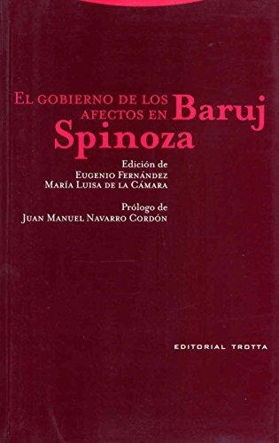 9788481648737: El Gobierno de Los Afectos En Baruj Spinoza (Spanish Edition)