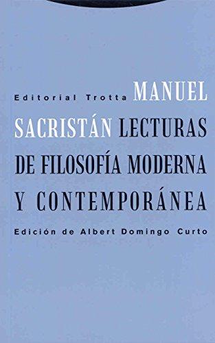 9788481649055: Lecturas de filosofia moderna y contemporanea (Spanish Edition)