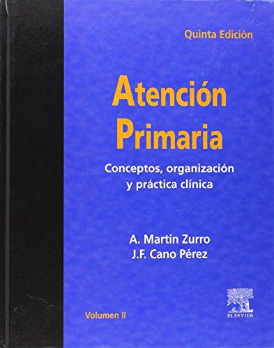 5ª ed.) atencion primaria, 2 vol (+CD-rom): Martin Zurro, A.;