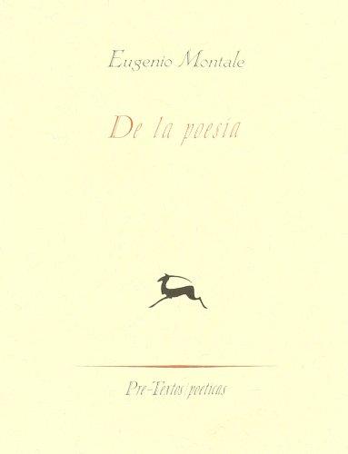 9788481910315: De la poesía: Sulla poesia ( Poéticas)